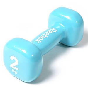 Гантель Reebok RAWT-11152 - 2 кг, блакитна