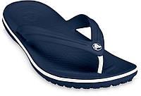 Мужские вьетнамки Crocs Crocband Flip Flop синие, фото 1