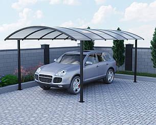 Автомобильный навес Oscar Fantom  Long 2908х6190х2670,5 мм Сотовый поликарбонат Lexan 8 мм, Двойная молотковая краска