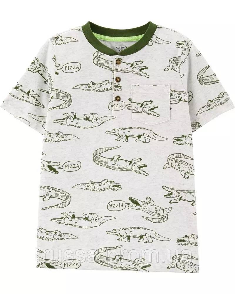 Летняя футболка Аллигаторы для мальчика Картерс