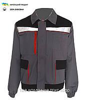 Куртка рабочая МУСТАНГ серая с черным ( 100 % хлопок )