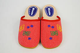 Тапочки женские текстильные Inblu NC20S Красные