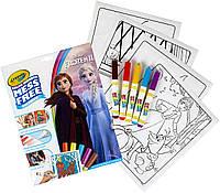 Холодное сердце Эльза frozen книга-раскраска в наборе фломастерами Color Wonder, Crayola (Крайола)