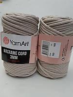 Пряжа YarnArt Macrame Cord 3мм 753 беж (Ярнарт Макраме Корд) шнур для макраме