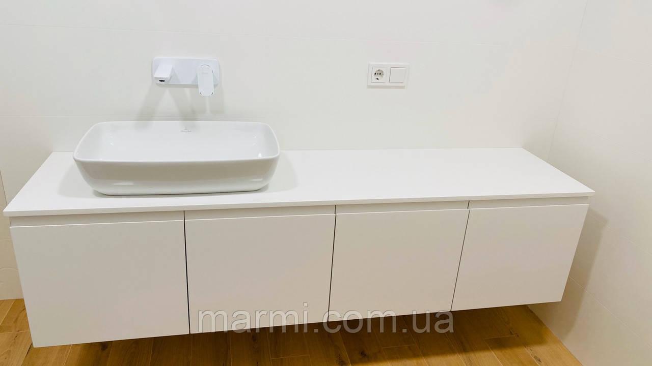 Столешницы для ванной из кварцевого камня