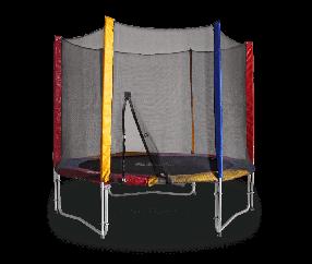 Батут KIDIGO 244 см с защитной сеткой / Детские батуты