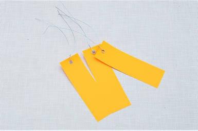 Етикетки на дроті кольорові 3,0 х 10 см, 250 шт ПВХ
