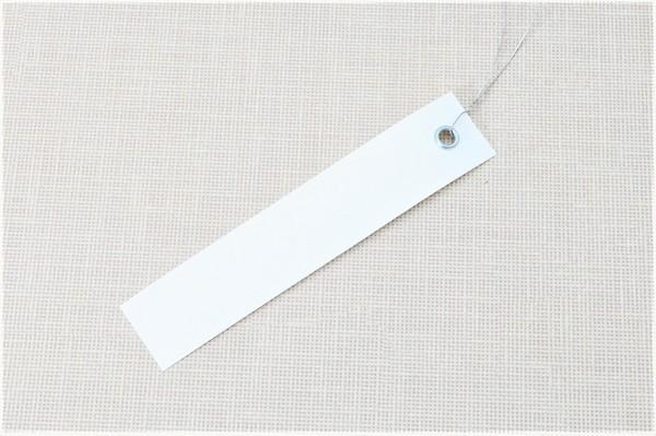 Етикетки на дроті білі 2,0 х 10 см, 250 шт ПВХ