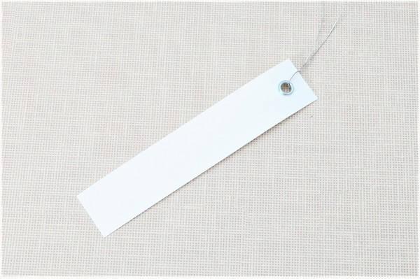 Етикетки на дроті білі 2,0 х 10 см, 250 шт ПВХ, фото 2