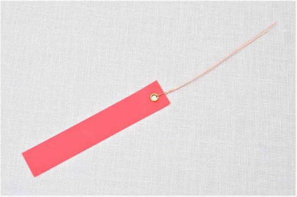 Етикетки на дроті кольорові 1,8 х 10 см, 250 шт ПВХ, фото 2