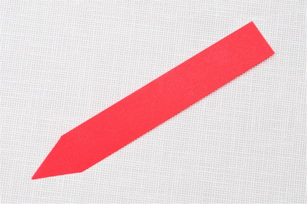 Етикетки-кілочки для рослин 18 х 120 х 0,5 мм, 50 шт - червоні