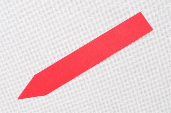 Етикетки-кілочки для рослин 18 х 120 х 0,5 мм, 50 шт - червоні, фото 2
