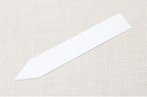 Етикетки-кілочки для рослин PET-R білі 1,6 х 10 см, 500 шт