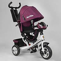 Велосипед трехколесный с фарой Best Trike 6588 - 28-549 Бордовый (колеса пена)