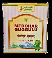 Медохар Гугул или Медари Гугу, контрол уровня холестерина, при избыточном весе, Medohar Guggulu 25gm (100tab), фото 1