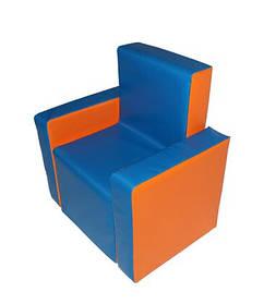 Мягкая детская игровая мебель. Детское мягкое кресло синие