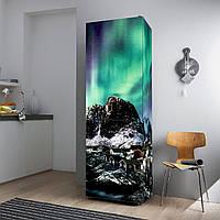 """Виниловая наклейка на холодильник """"Северное сияние""""., фото 1"""