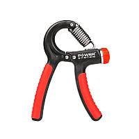 Эспандер кистевой тренажер пружинный регулируемый ножницы Power System до 40 кг Черный-красный (PS-4021_Black), фото 1