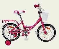 Велосипед детский 2-х колесный 16'' Like2bike Star,цвет розовый,рама сталь, со звонком, ручной тормоз