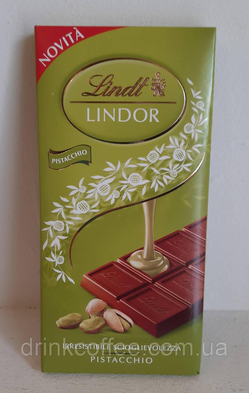 Шоколад Lindt молочний Lindor Pistacchio молочний з фісташкою Італія 100g