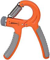 Эспандер кистевой тренажер пружинный регулируемый ножницы Power System до 40 кг Оранжевый (PS-4021_Orange)