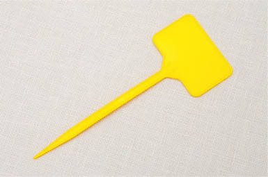 Табличка на ножке желтая №3
