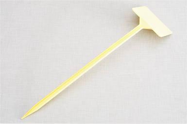 Табличка на ножке №5 желтая