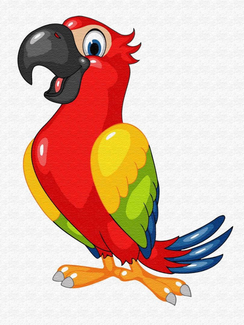 Дитяча картина за номерами BRUSHME KIDS 30*40см Барвистий папугай, MEX6425