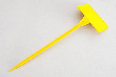 Табличка на ножке №6 желтая