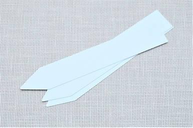 Этикетки PET-R белые 1,6*12см, 500шт