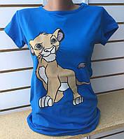 Футболка с Симбой женская The Lion King (ПОШТУЧНО) В РАСЦВЕТКАХ, фото 1