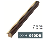 Багет дерев'яний коричневий в рисочки