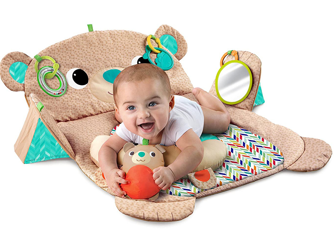 Детский Игровой коврик Мишка США  Bright Starts Tummy Time Prop & Play