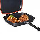 Сковорода двухсторонняя для гриля и жарки A-PLUS 30 см, фото 3
