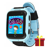 ➤Смарт-часы UWatch Q529 Blue экран 1.44 дюйма встроенный GPS трекер Bluetooth батарея 400 mAh Android IOS