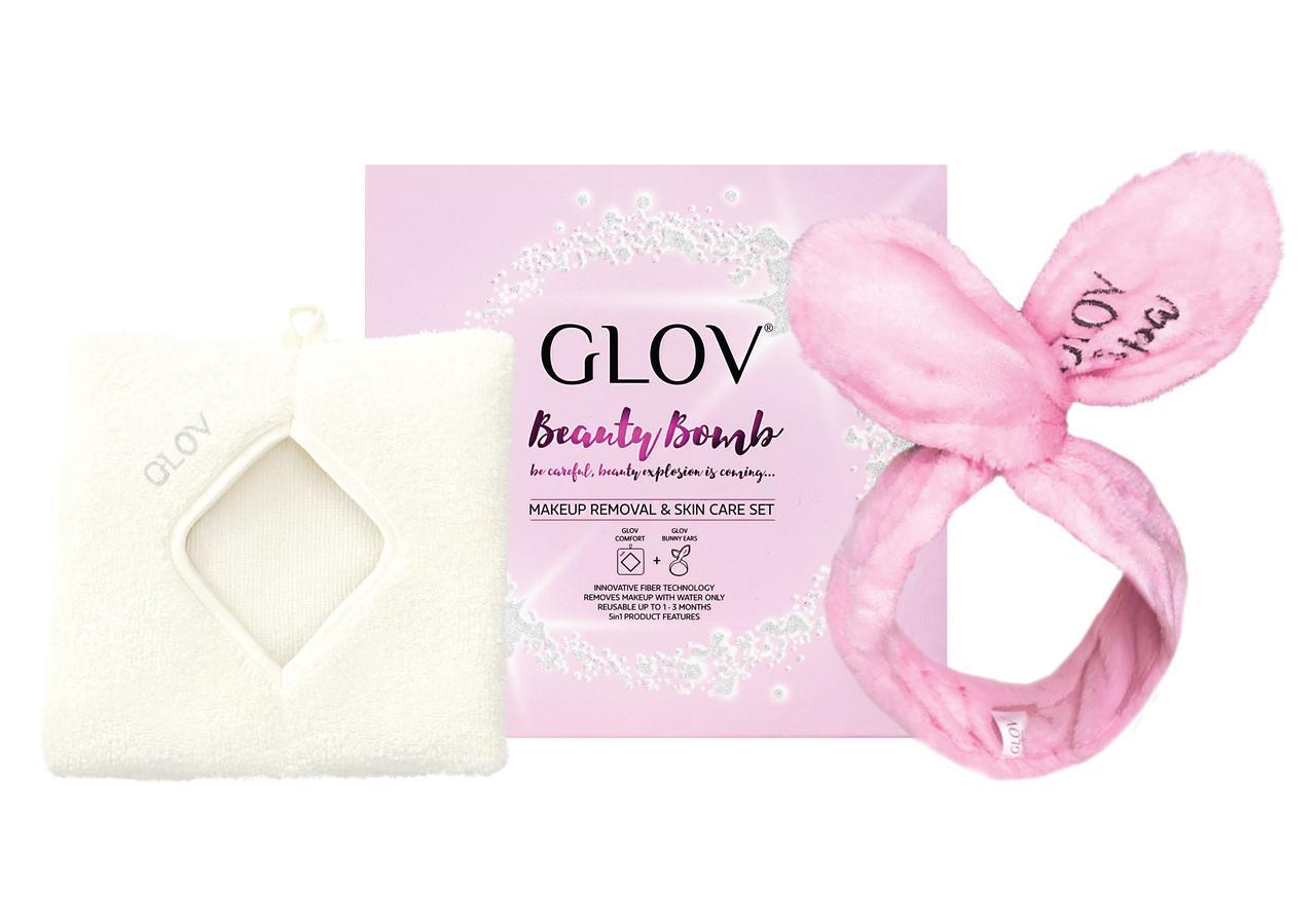 Набір GLOV Beauty Bomb, Вушка-обруч, рукавичка для демакіяжу. - фото 1