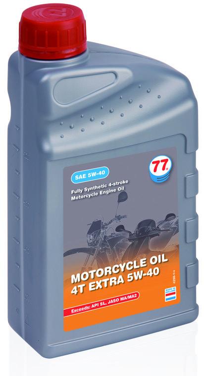 77 MOTORCYCLE OIL 4T EXTRA 5W-40 синтетическое (кан. 4 л)