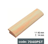 Багет дерев'яний біло помаранчевий