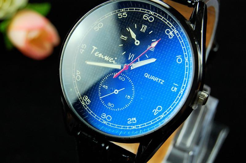 Мужcкие наручные часы  кварцевые кожа спорт  Relogio Masculino