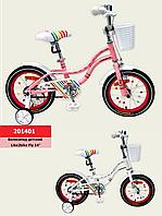Велосипед детский 2-х колесный 14''Like2bike Fly,цвет белый, рама сталь, со звонком, ручной тормоз, сборка75 %