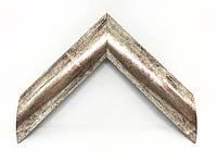 Багет дерев'яний срібло з розводами
