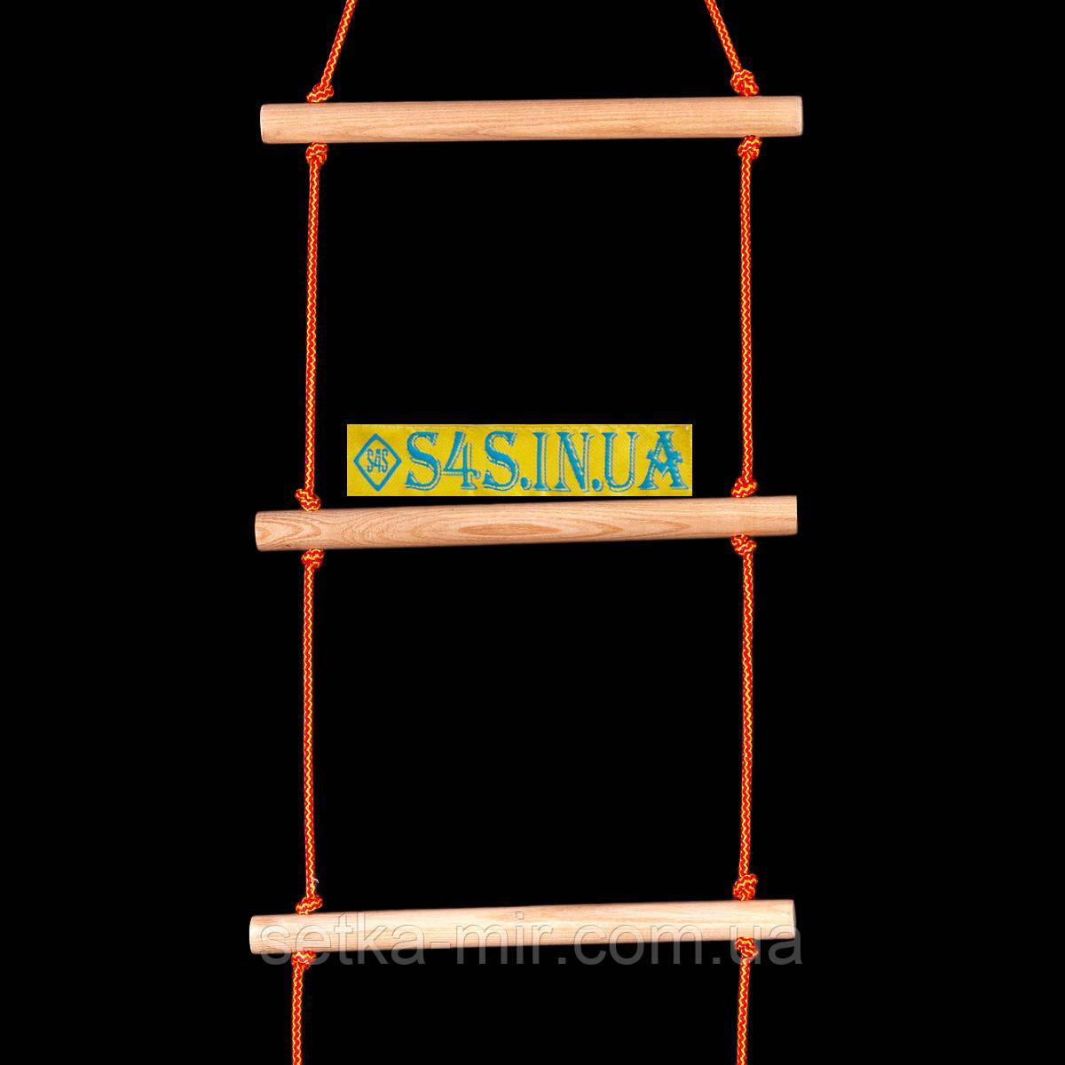 Лестница детская, подвесная, деревянная «ПРЕМИУМ. БОГАТЫРЬ»