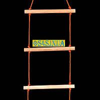 Лестница детская, подвесная, деревянная «ПРЕМИУМ. БОГАТЫРЬ», фото 1