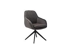 Стілець крісло поворотний R-85 графіт на металлокаркасе в стилі модерн для дому та HoReCa
