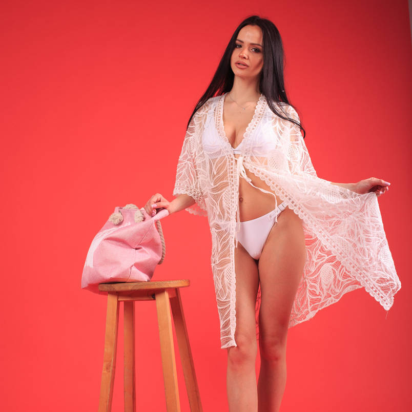 Женская пляжная накидка халат(арт. 16-4), фото 2