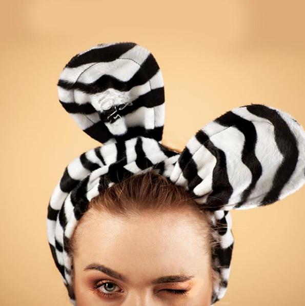 Обруч GLOV Bunny Ears - зебра - фото 2