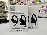 Наушники беспроводные спорт TWS-C2 Черные, фото 1