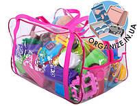 Сумка-пвх в роддом/для игрушек ORGANIZE (розовый)