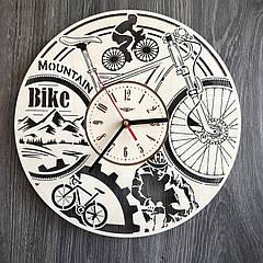 Часы из дерева на стену 7Arts Велосипед (CL-0276)