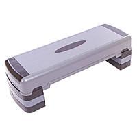 Степ-платформа (пластик, р-р 90Lx32Wx15-27H, черный) FI-1579